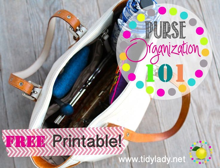 purse organization 101!  A genius way to organize your handbag with a FREE printable to keep track of all your contents!!!!