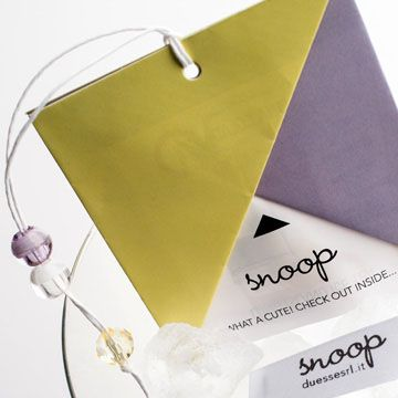 printed label and folded hangtag