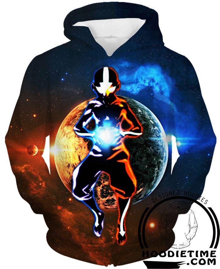 Avatar the Last Airbender Hoodies - Avatar Aang Hoodie - 360 Printed Clothing