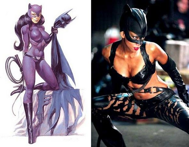 Female Comic Heroes and Their Movie Twins