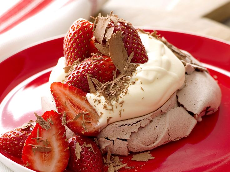 Chocolate and strawberries are a match made in heaven and so are these luscious pavlovas. But be warned, it will be almost impossible to stop at one.