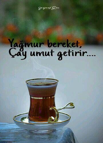 Yağmur bereket, çay umut getirir.... ☕️