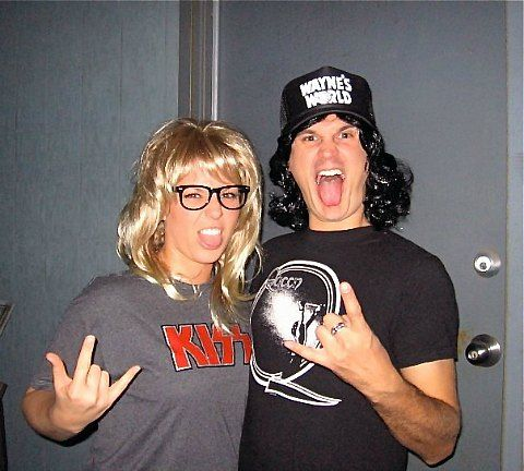 Wayne Campbell and Garth Algar: All you need to transform into this gnarly duo is a pair of T-shirts (those 90s band shirts you haven't worn in ages will be perfect for this), his trucker cap, a nerdy pair of glasses ... and attitude! | YourTango