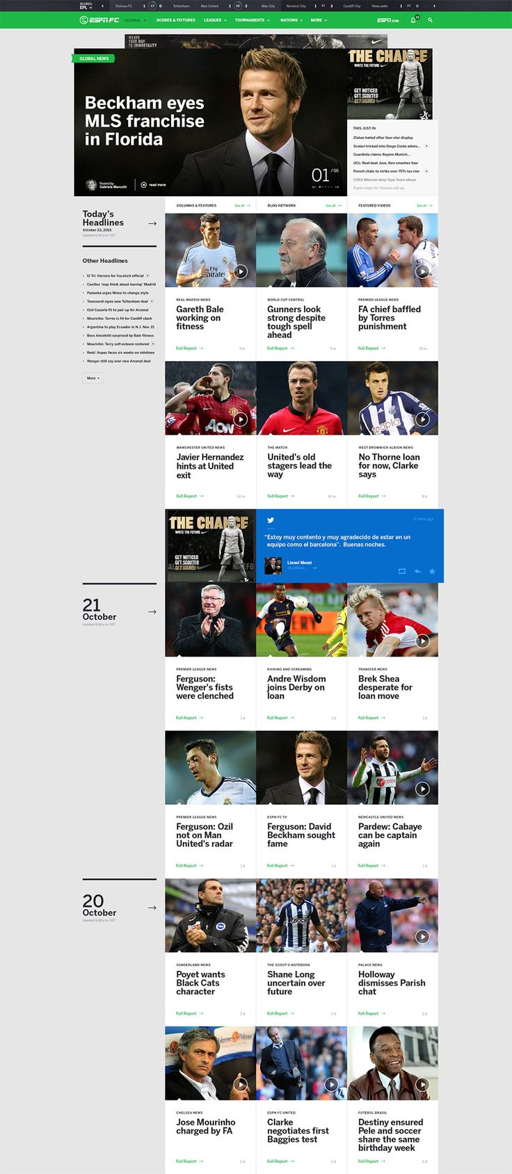 Web layout - love the blurb on the left and video screenshots in rows down the page