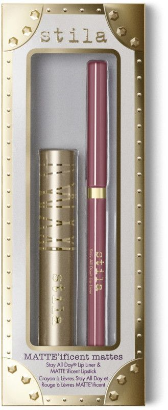 Stila MATTE'ificent Mattes Stay All Day Lip Liner & MATTE'ificent Lipstick $18.00 http://shopstyle.it/l/oKFS