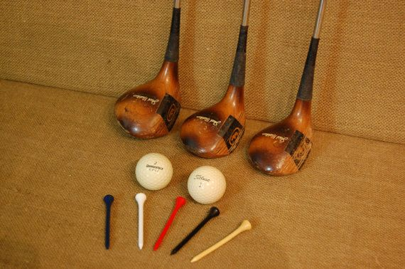 Vintage Wood Jack Nicklaus Golf Clubs golf by PickersWarehouse