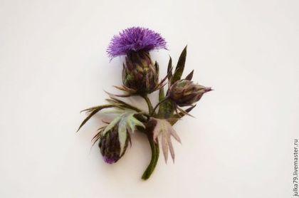 Чертополох - фиолетовый,чертополох,брошь чертополох,репейник,брошь цветок