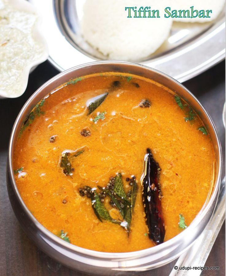 Idli Sambar | Tiffin sambar tastes close to sambar served in hotels of Bangalore. Rejoice your morning breakfast with this yummy sambar. Dip and gulp. udupi-recipes.com