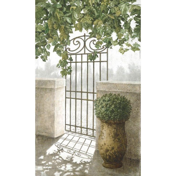 """Décorez vos murs avec cette magnifique tenture murale """"Porte de jardin"""" et faites entrer la Provence dans votre intérieur."""