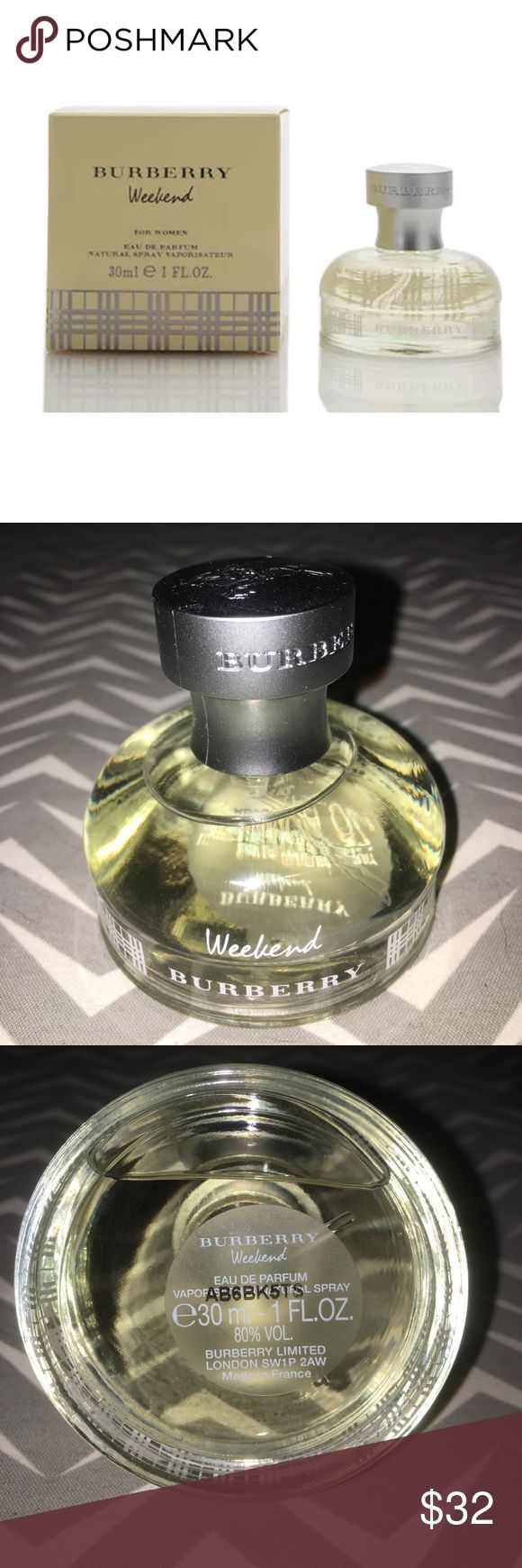 Burberry Weekend Eau De Parfum Spray Burberry Weekend Eau De Parfum Spray 30ml/1oz  A floral fragrance with fresh, sparkling notes It consists the clear, luminous essence of citrus With a rich floral heart & a musky & woodsy base  ❤️sorry does not come with box. Burberry Other