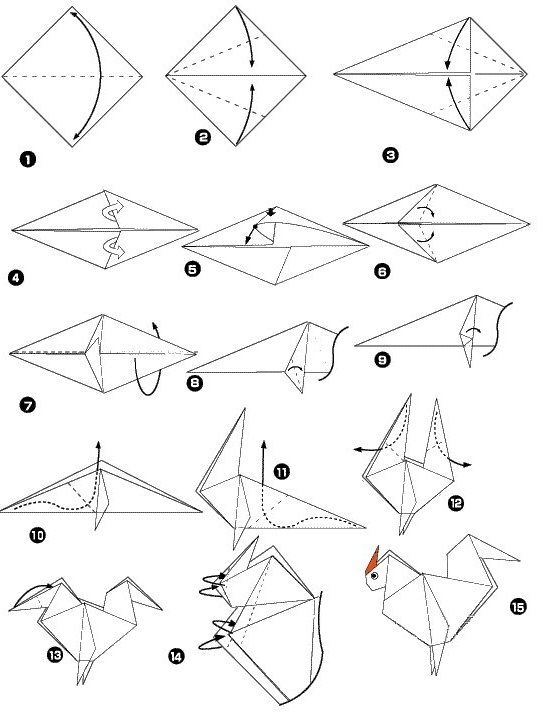 rooster origami - Google Търсене