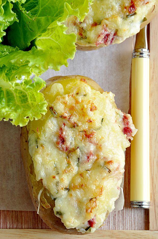 Pommes de terre gratinées (minus the ham).