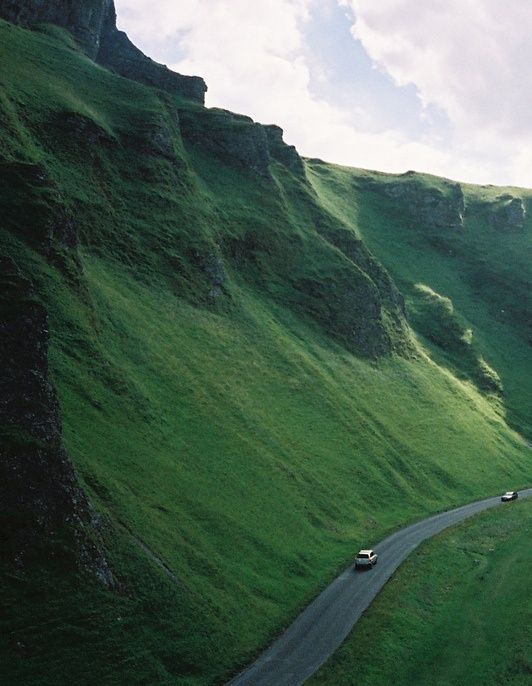 A serene and enticing road in Derbyshire, England Perfect for a romantic drive! Planning your honeymoon? Log on to www.Triphobo.com