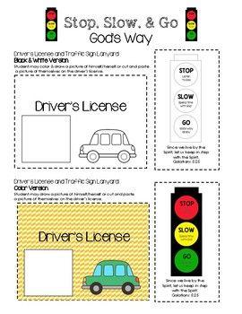 God's Traffic Light - Stop, Slow, and Go God's Way! $1 Traffic Light printable set - visit www.littlelearninglane.com for more fun ideas & FREE printables!