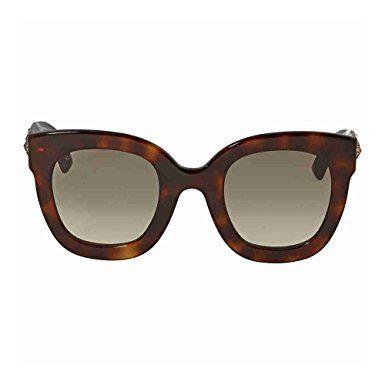 5d7186bb6f Gucci GG 0208S 003 Havana Plastic Fashion Sunglasses Brown Gradient Lens  Review