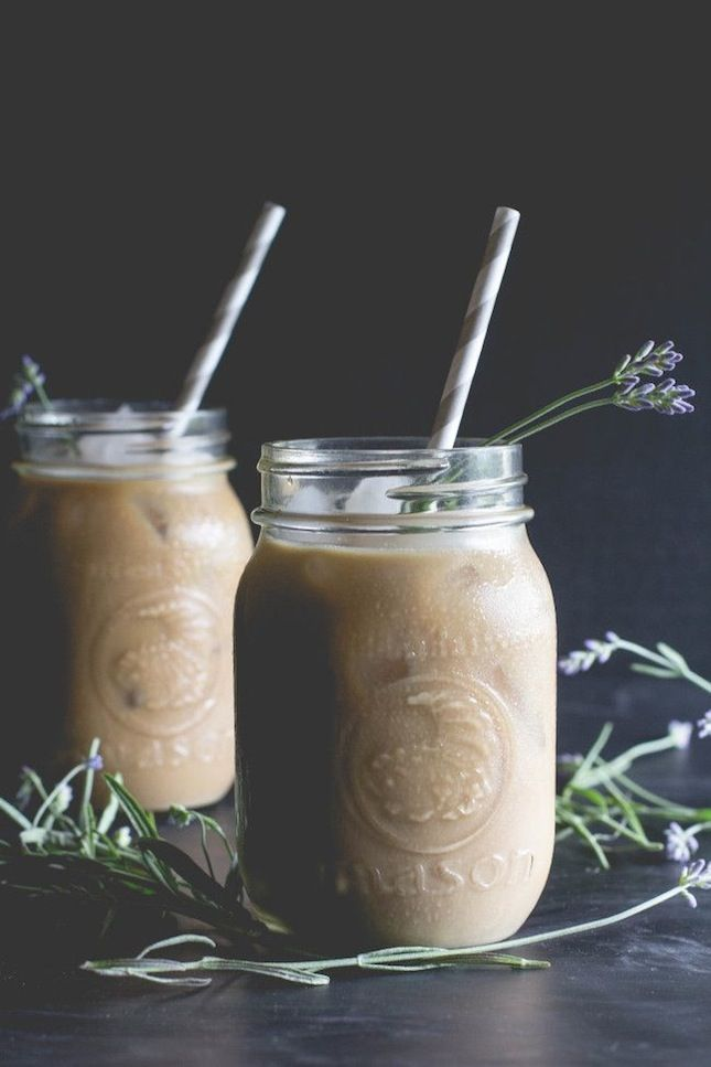 Start your morning with a Lavender + Honey Iced Latte.