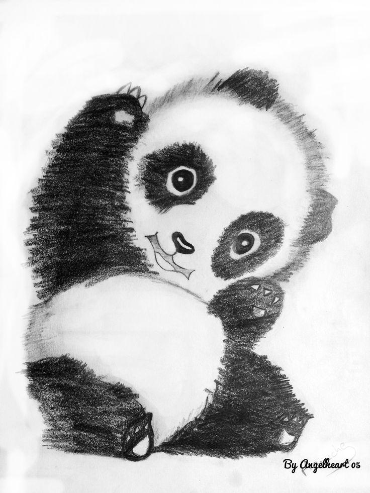 двери животные рисунки карандашом легко панда проекта