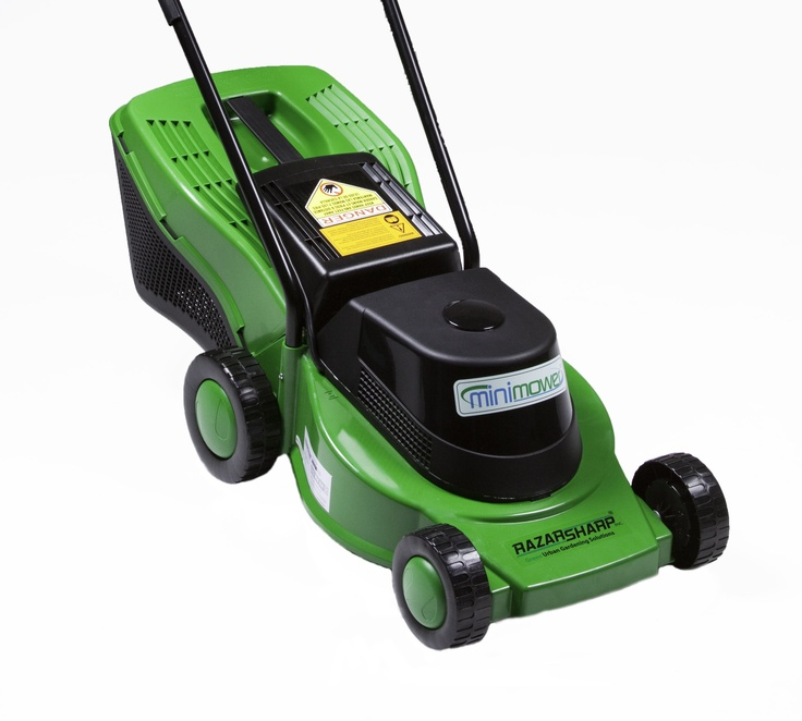 This cute and powerful, small lawn mower is ideal for people with small lawns...and it's eco-friendly!