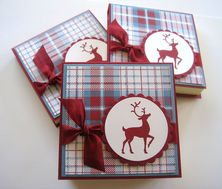 Today's craft fair project is Post It pads. I had to use more of the Frostwood Lodge DSP because I just LOVE it and I thought the reindeer ...