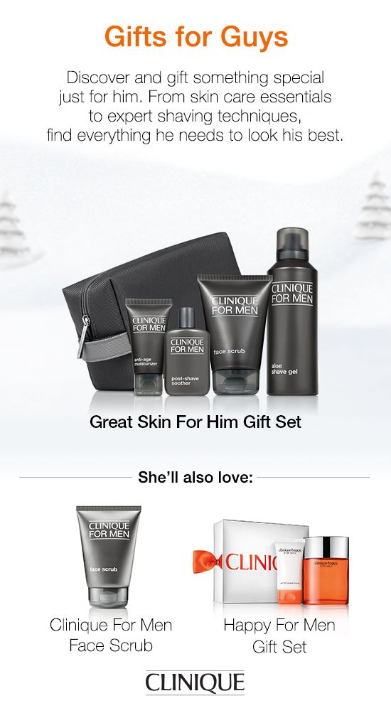 The guy in your life will love this portable set, so he can get great skin on the go. There's a science to looking good. #Clinique #CliniqueForMen #Gifts