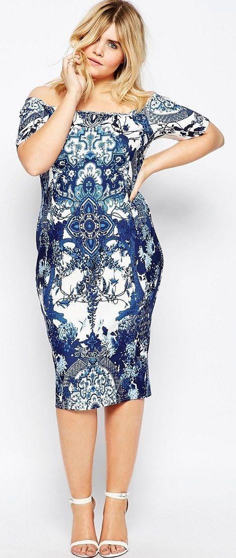 Plus Size Body-Conscious Dress