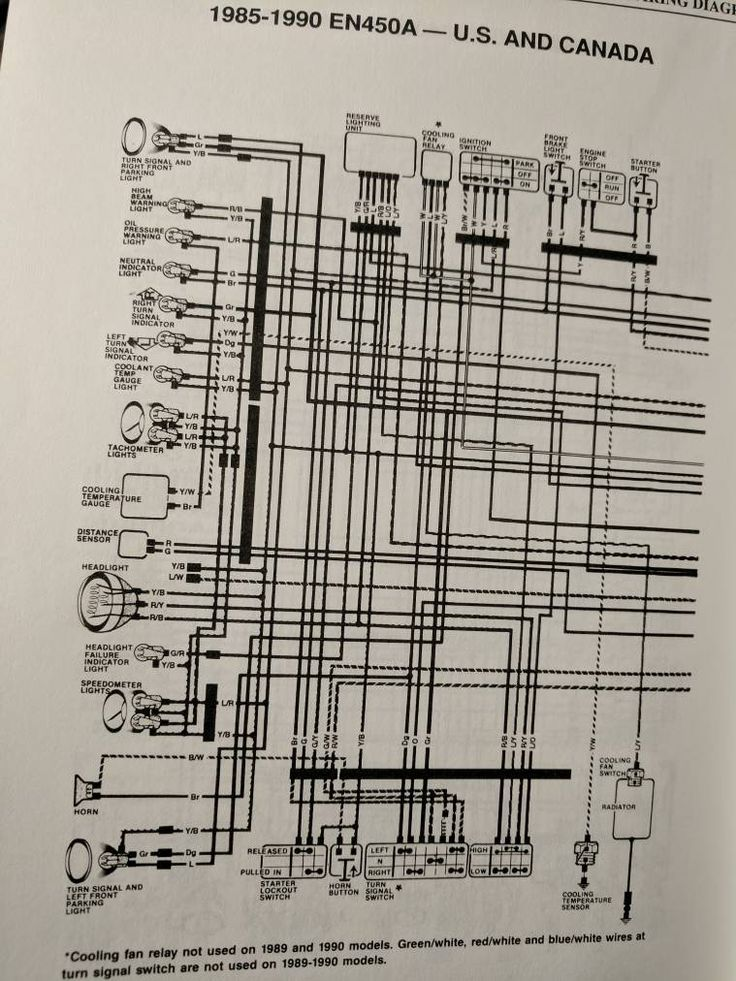 Here S Our Wiring Diagram The Kawasaki En450 454 Ltd Forum Diagram Wire Kawasaki