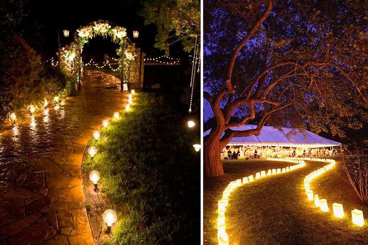 | Iluminación para bodas al aire libre