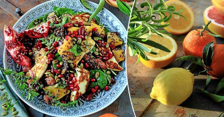 Halloumi, citrusfrukter och rostad pumpa – vilken smakkombination. Den här salladen, som Lands Caroline Hofberg bjuder på, är en av de bästa vi har ätit.