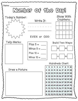 Number of the Day! (Numbers 11-20) teacherspayteachers