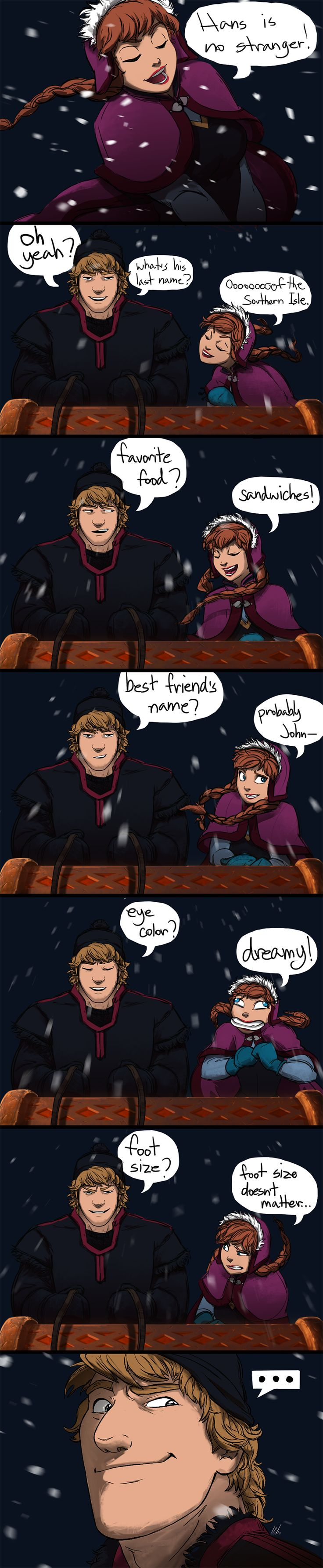 Well played Frozen. Well played XD Take a hint Anna by ColossalBeltloop.deviantart.com on @deviantART