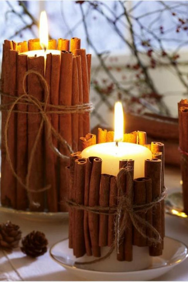 There are two things that you can never go wrong with: candles and cinnamon.