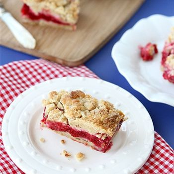 Raspberry Crumb Bar Recipe with Almond Streusel. (Yeah, I clearly like ...
