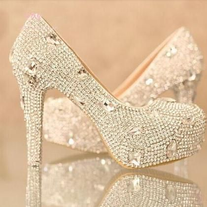 Shinning Rhinestone Wedding Bridal Shoes