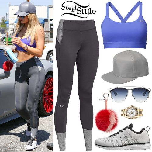 Kylie Jenner arriving at a gym in Van Nuys. August 8th, 2015 - photo: AKM-GSI