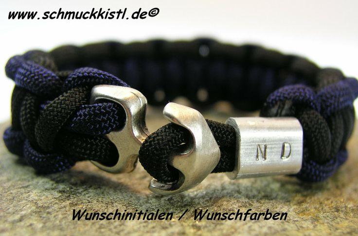 Männerarmband mit Gravur von www.Schmuckkistl.de auf DaWanda Wunschgravur und Wunschfarbe