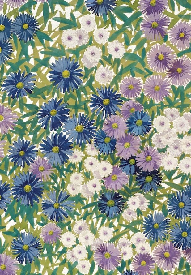 Michaelmas Daisy, 1929 | The Warner Textile Archive Summer Greeting Cards