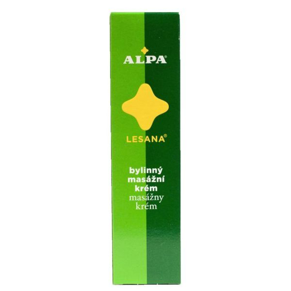 Alpa Czech LESANA Massage Cream 40g Siberian Fir Oil Against Physical Fatigue