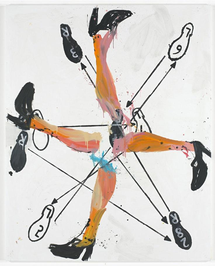 """Georg Baselitz, """"Welcher Tanz ist Das?"""", 2009"""