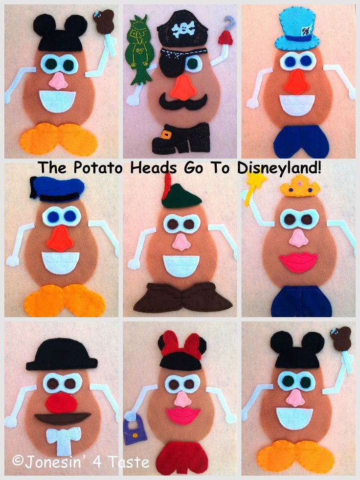 Jonesin' For Taste: Disney Felt Potato Heads