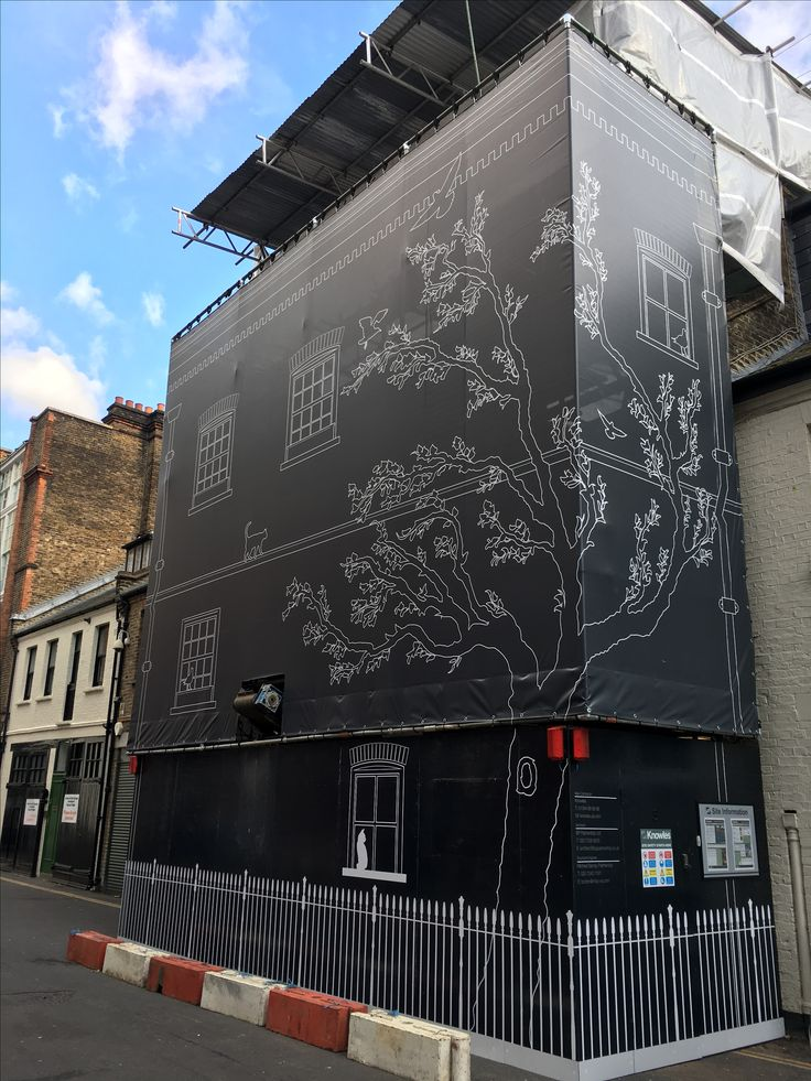 Hoarding and building wrap designed, manufactured and fitted for Knowles by 989 Design Surrey