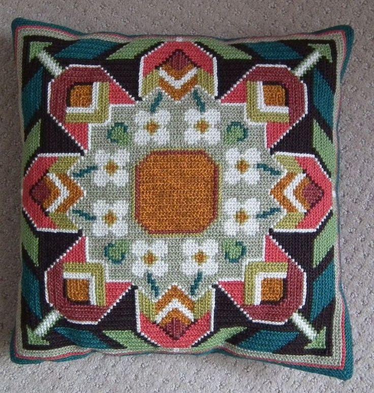 Swedish Decorative Pillow Hand Made Scandinavian Tapestry Sweden
