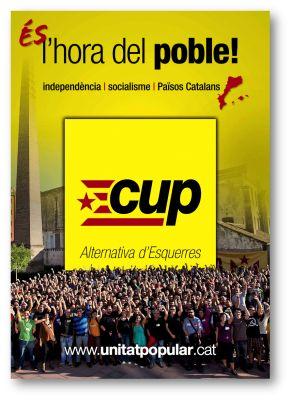 CUP. Cartell electoral eleccions catalanes 2012