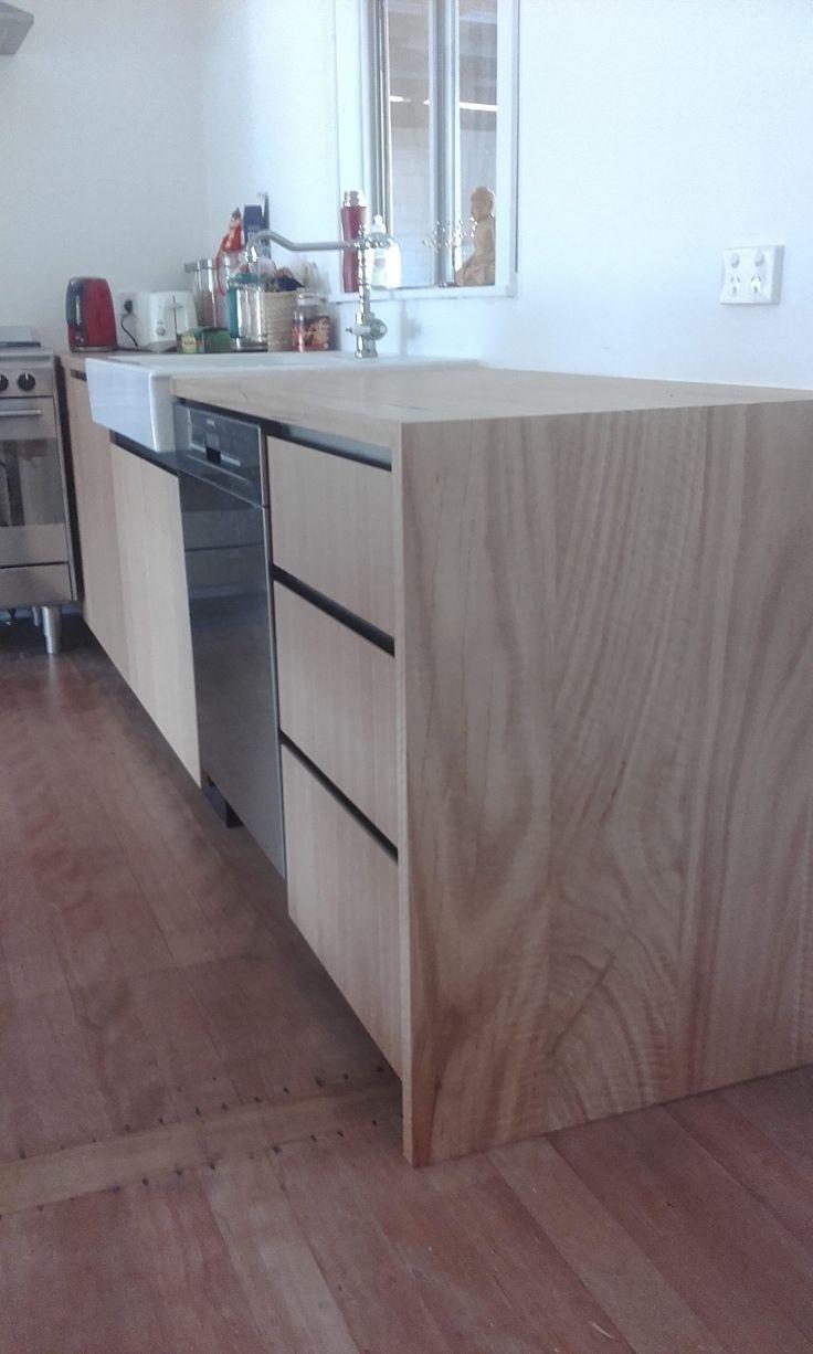 Customer Joinery: Solid and Veneer Blackbutt Kitchen