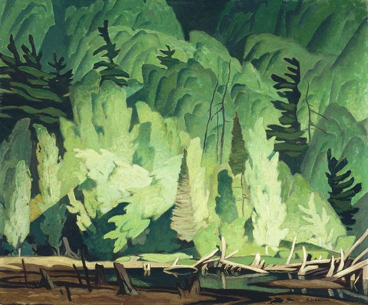 A.J. Casson (1898 - 1992), Summer Hillside (R); Untitled (landscape) (V), 1945, oil on hardboard, 50.7 x 61.1 cm, Gift of Mr. W.A. Norfolk, 1972.9.RV