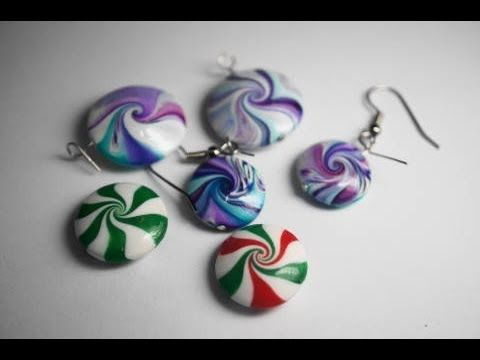 Video: Swirly Lentil Bead Technique with Heather Wells.   #Polymer #Clay…