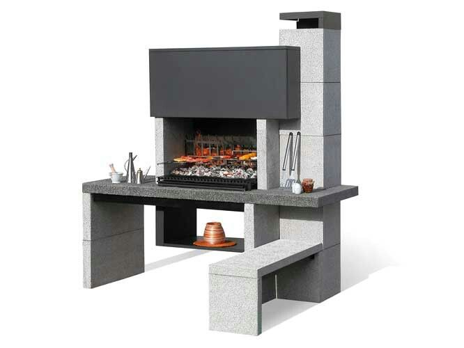 Asador contempor neo backyard pinterest asador for Asador de ladrillo para jardin