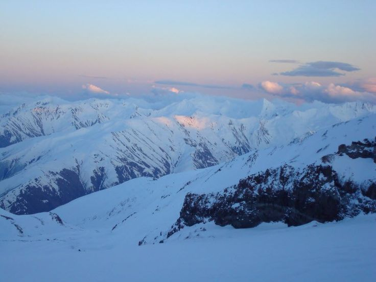 Фото ледника Гергети в горах Грузии