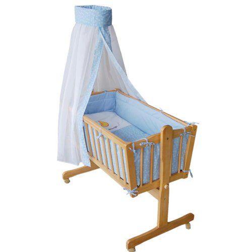 muy buena honey bee completa mecedora cama cuna para bebs azul