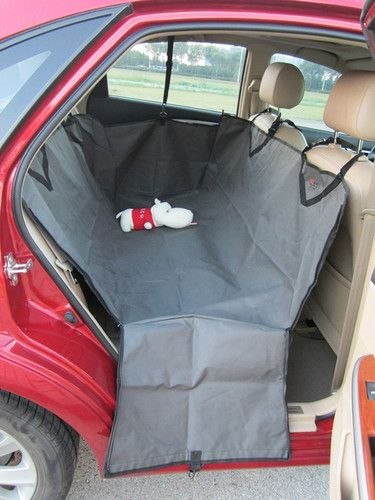 Pet Dog Cat Rear Seat Car Auto Waterproof Hammock Blanket Cover Protector Gray