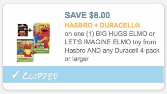Target or Walmart: *HOT* Let's Imagine Elmo Toy & Duracell 4-Pack Only $13.99 for BOTH – Hip2Save